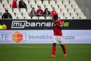 Daniel Heber rote Karte Rot-Weiss Essen vs. SC Wiedenbrück Spielfotos 16-10-2021