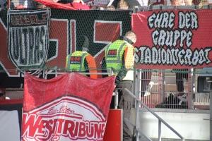 Essen Fahne Ehre der Gruppe Stadionverbot