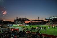 Feuerwerk zum letztes Abendspiel im Georg Melches Stadion 16. Mai 2012