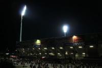 Georg Melches Stadion am Abend