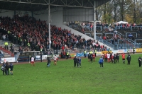 Herne - RWE am 14.11.2010: Jubel nach Spielschlus