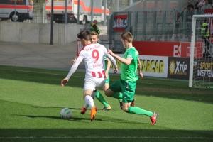 Marcel Platzek im RWE-Spiel gegen Rödinghausen
