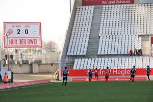 Neue RWE Anzeigentafel im Stadion Essen