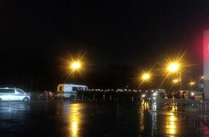 Polizeieinsatz vor dem Stadion Essen