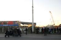RWE-Stadion im Bau