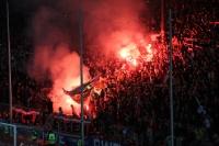 RWE Fans feiern Pokalsieg 2012 mit Pyro