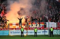 RWE Fans zünden Pyro im Pokalfinale 2012