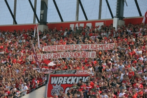 RWE Spruchbänder gegen den WSV