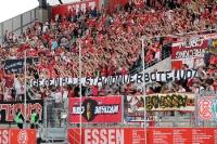 RWE Spruchband gegen Stadionverbote