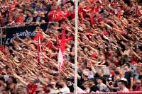 Support RWE Fans gegen Oberhausen