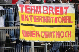 Team Breit International einer geht noch Zaunfahne