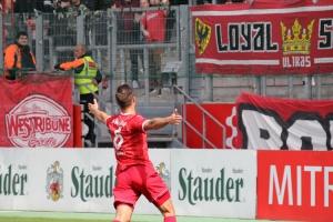 Timo Brauer Torjubel beim letzten Heimspiel in Essen 2019