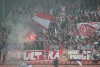 Ultras Essen in Krefeld (2. Mai 2012): Pyroaktion zum 1:0