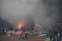 Ultras Essen: Pyroshow in Krefeld beim Niederrheinpokal-Halbfinale 2012