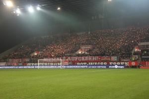 Wunderkerzen Intro RWE Fans gegen Homberg 2019