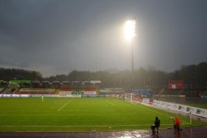Regen RWO gegen RWE Niederrheinpokal Viertelfinale 12-05-2021 Spielszenen