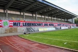 Banner RWO gegen RWE Niederrheinpokal Viertelfinale 12-05-2021