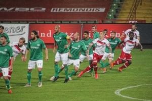 RWO gegen RWE Niederrheinpokal Viertelfinale 12-05-2021 Spielszenen