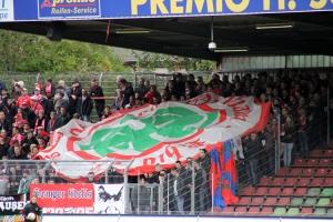 Oberhausen präsentieren Krefeld Fahne Sektion Oppum