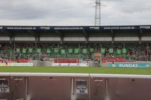 RWO Fans Choreo Kleeblatt Power gegen RWE