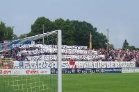 Spruchbänder beim Spiel Babelsberg 03 vs. BFC Dynamo