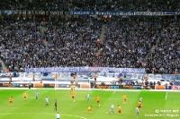 Spruchband-Klassiker in der Ostkurve von Hertha BSC