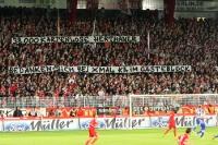Spruchband auf Waldseite beim Berliner Derby 2010