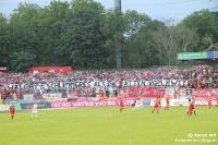 Spruchband bei Rot-Weiß Oberhausen