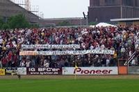 Spruchband beim Derby BFC Dynamo vs. 1. FC Union Berlin, 2006