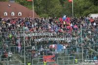 Spruchband beim Wuppertaler SV im Stadion am Zoo
