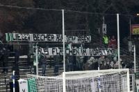 Spruchband der Fans des SC Preußen Münster