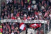 Spruchband der RB Leipzig-Fans in Magdeburg