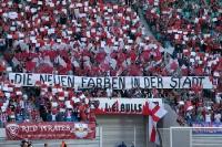 Spruchband im Fanblock von RB Leipzig