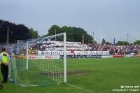 Fans und Ultras des SV Babelsberg 03 beim Heimspiel gegen Union Berlin, 2005/06