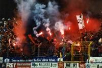Fans und Ultras des SV Babelsberg 03 beim Heimspiel gegen Union Berlin, 2000/01
