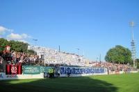 Choreographie der Ultras & Fans des SV Babelsberg 03 (Filmstadt Inferno 99) beim Spiel gegen Erfurt