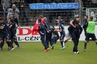 Babelsberger Freude über den Sieg gegen Stuttgarter Kickers