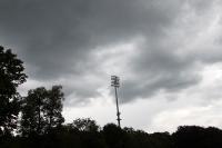 Düstere Wolken über dem Karl-Liebknecht-Stadion