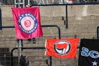 Gay Skins Babelsberg beim Spiel gegen den KSC