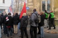 Fans / Ultras des SV Babelsberg 03 auf dem Weg zum Stadion der Freundschaft in Frankfurt / Oder
