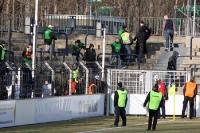 Dicke Luft am Pufferblock des Karli beim Heimspiel gegen den Chemnitzer FC