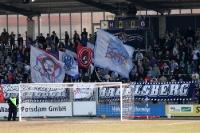 Es ist angerichtet: Die Babelsberger Anhängerschaft freut sich auf die Partie gegen Jena