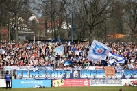 Filmstadtinferno Babelsberg beim Heimspiel gegen den FC Carl Zeiss Jena
