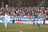 Fans des SV Babelsberg 03 beim Heimspiel gegen den Fc Carl Zeiss Jena
