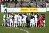 Babelsberger feiern den 2:0-Sieg gegen den VfR Aalen