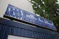Allez les bleus - Fanartikelstand des SV Babelsberg 03