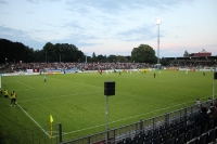 Karl-Liebknecht-Stadion im Abendlicht