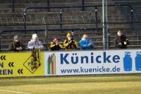 sechs Auerbacher Fans feiern Auswärtssieg im Karli