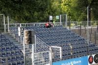 Sitzplatzbereich des Gästeblocks im Babelsberger Karli