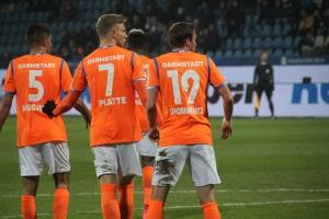 Spielszenen Darmstadt 98 in Bochum Februar 2018